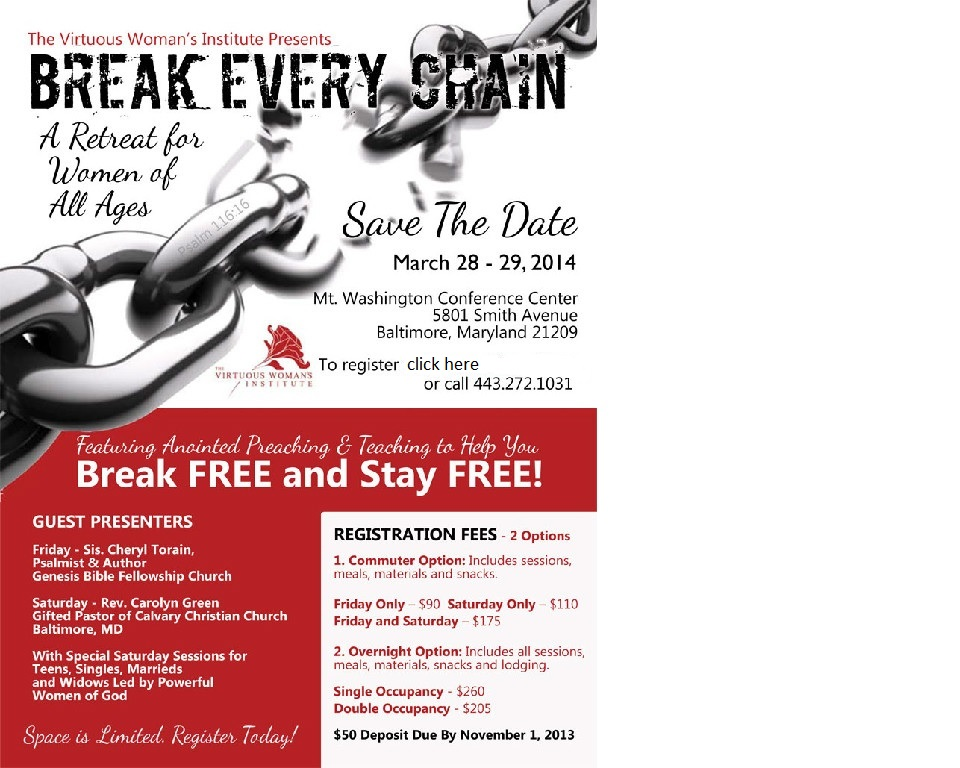 Break Every Chain Flyer