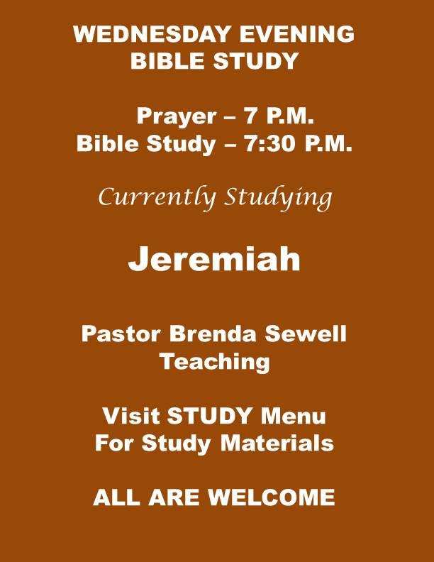 Jeremiah Bible Study